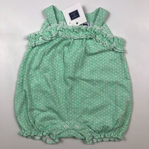 Janie and Jack Girls 3-6 M Green Romper